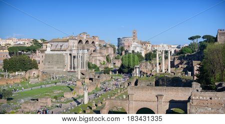 Roman Forum Panoramic View