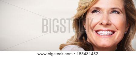 Beautiful elderly woman's portrait.