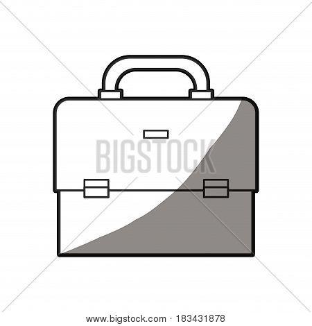 outlined portfolio briefcase document business vector illustration