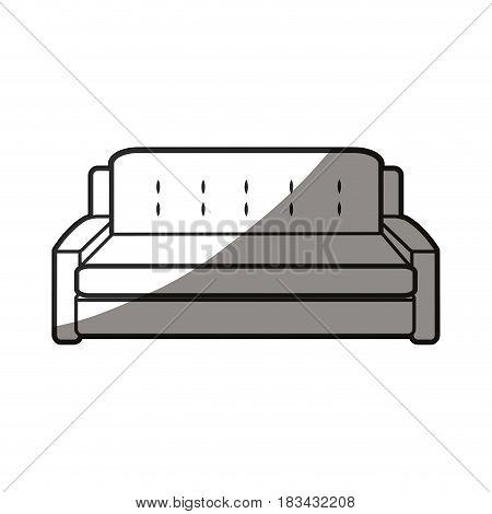 sofa furniture decoration comfort line shadow vector illustration