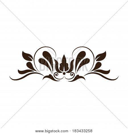 florish decoration floral ornament elegant abstract vector illustration