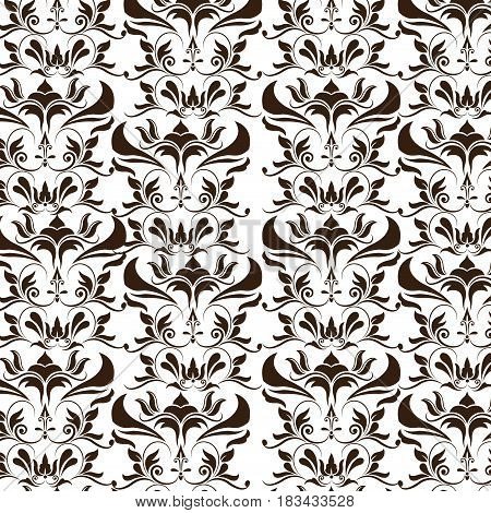 elegant decoration ornate swash design wallpaper vector illustration
