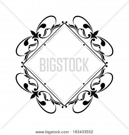 decorative frame vintage elegant flourish image vector illustration
