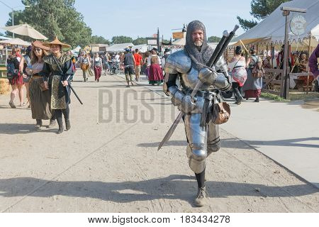Participant Wearing Medieval Armor