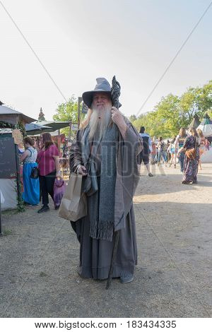Participant Wearing Vintage Mage Clothing