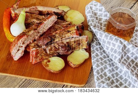 Marinated Pork Ribs And Southern Fries