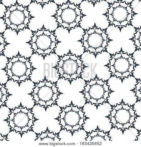 decorative elegant classic heraldry seamless pattern design vector illustration