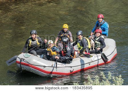 Support Raft Boat At Paivafest