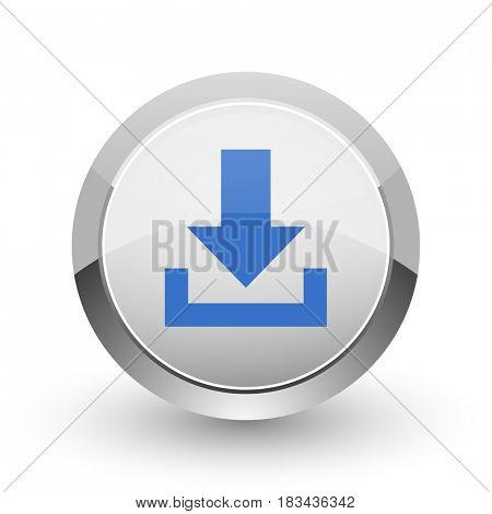Download chrome border web and smartphone apps design round glossy icon.