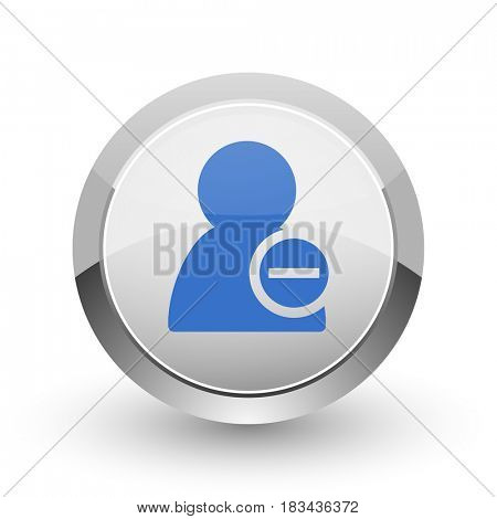 Remove contact chrome border web and smartphone apps design round glossy icon.