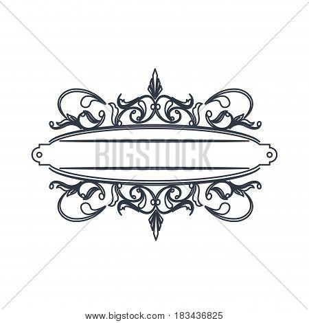 classic signboard swirls decoration template vector illustration