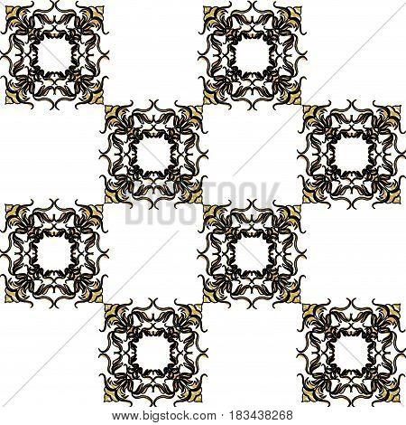 decorated flourishes element geometric seamless vector illustration