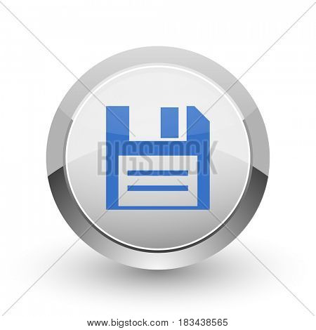 Disk chrome border web and smartphone apps design round glossy icon.
