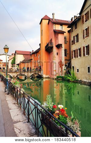 ANNECY, APRIL 18, 2017 - Architecture of Annecy, France, Europe