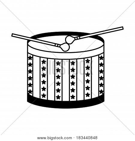 american drum isolated icon vector illustration design