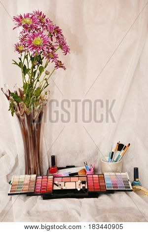 Cosmetics And Flowers