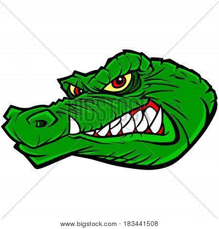 A vector illustration of a Gator mascot.