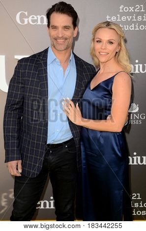 LOS ANGELES - APR 24:  Johnathon Schaech, Wife at the National Geographic's
