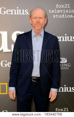LOS ANGELES - APR 24:  Ron Howard at the National Geographic's