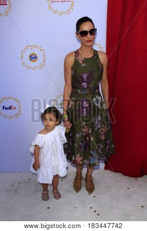 LOS ANGELES - APR 23:  Luna Mae Akoskin, Leonor Varela at the Safe Kids Day at the Smashbox Studios on April 23, 2017 in Culver City, CA