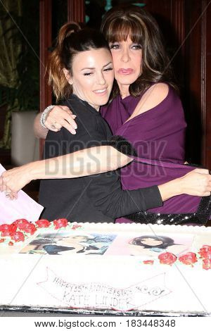 LOS ANGELES - APR 19:  Elizabeth Hendrickson, Kate Linder at the Kate Linder 35 Years on The Young and The Restless Celebration at CBS Television City on April 19, 2017 in Los Angeles, CA