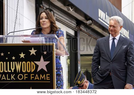 LOS ANGELES - APR 17:  Patricia Heaton, Gary Sinise at the Gary Sinise Honored With Star On The Hollywood Walk Of Fame on April 17, 2017 in Los Angeles, CA