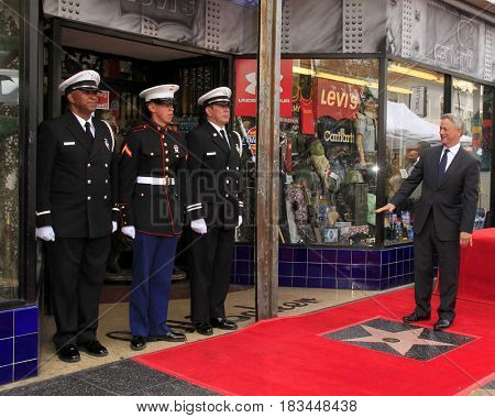 LOS ANGELES - APR 17:  Military Representatives, Gary Sinise at the Gary Sinise Honored With Star On The Hollywood Walk Of Fame on April 17, 2017 in Los Angeles, CA