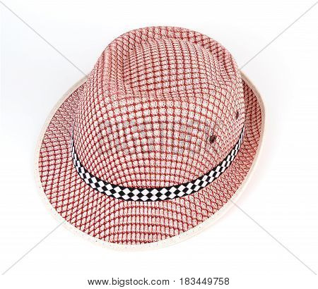 Red fashion hat isoalted on white background