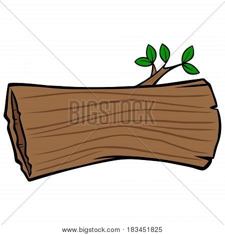 A vector illustration of a hollow log.
