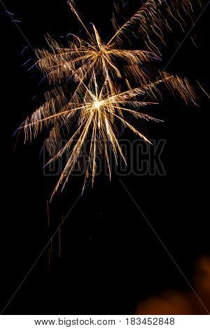 night traditional firework