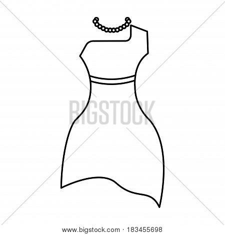 femenine dress elegant icon vector illustration design