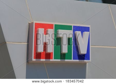 HO CHI MINH CITY VIETNAM - NOVEMBER 29, 2016: HTV Television. HTV, the old name of HCMC Television is Liberation Television that began broadcasting in 1975.
