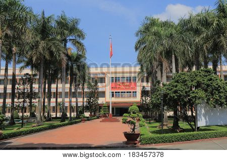 HO CHI MINH CITY VIETNAM - NOVEMBER 29, 2016: National Academy of Public Administration. National Academy of Public Administration NAPA specialises in law, administration and government management.