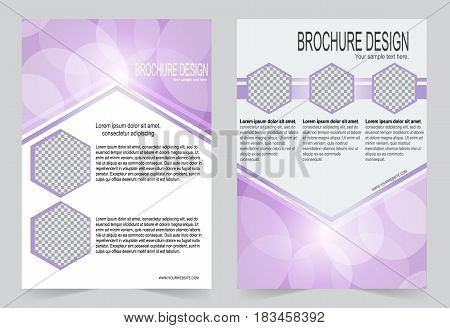 Soft Purple Brochure template flyer design abstract template for annual report magazine poster