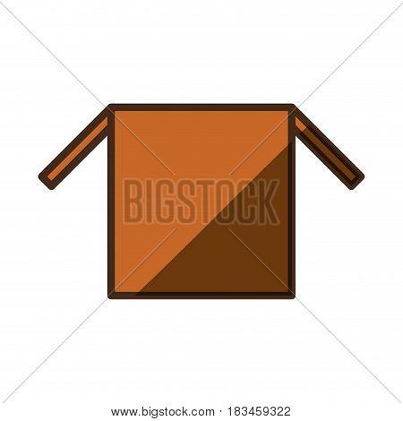 Delivery open box icon vector illustration graphic design
