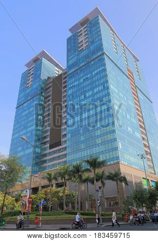 HO CHI MINH CITY VIETNAM - NOVEMBER 30, 2016: Vincom Center department store. Vincom Center is a luxurious shopping center in downtown District 1.