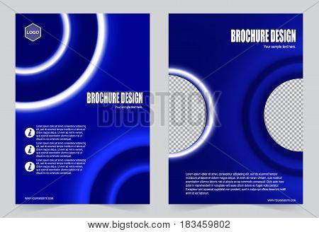 Blue Brochure Template Flyer Designr