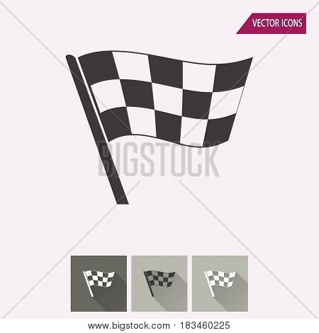 Flag vector icon. Illustration isolated for graphic and web design.