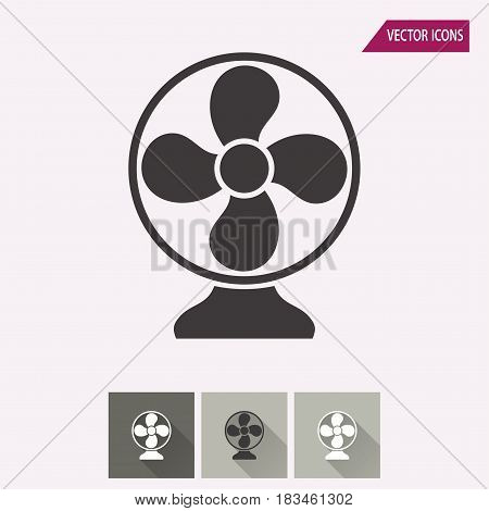 Fan vector icon. Illustration isolated for graphic and web design.