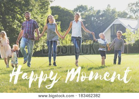 Happy Moment Family Outdoor Background