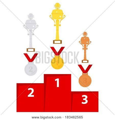 Sport trophies. Sleek design vector illustration vector.