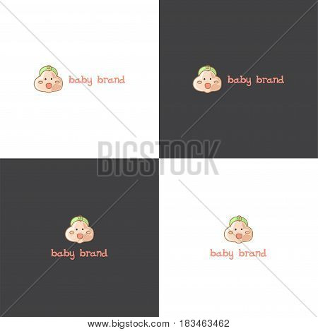 Vector eps logotype about baby goods selling in eps 10 horizontal and vertical view