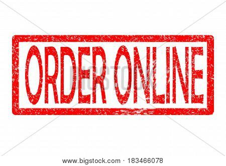 order online stamp on white background. order online stamp sign.