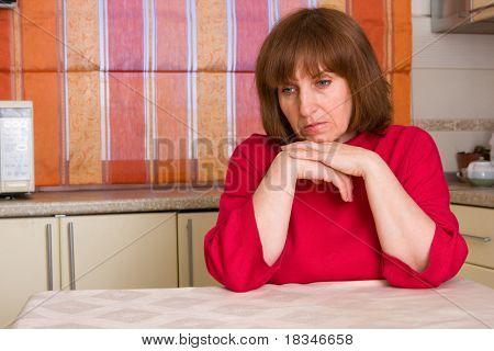 sad woman of the house