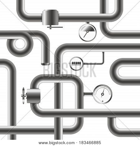 Pipeline system for water and plumbing vector