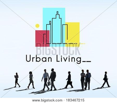 Urban Living City Lifestyle Society Graphic