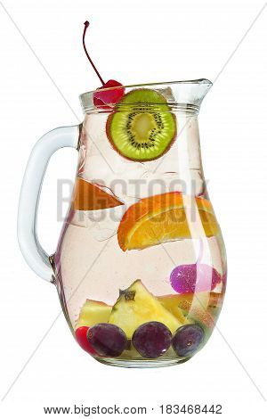 Refreshing Drink With Berries And Citrus Fruits