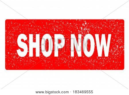 shop now stamp. square grunre isolated shop now sign.