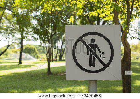 Not Litter In Park