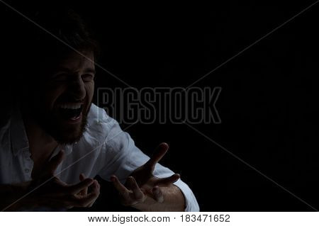 Man With Laugh Attack